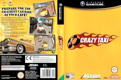 Jogo Crazy Taxi GC DVD Capa