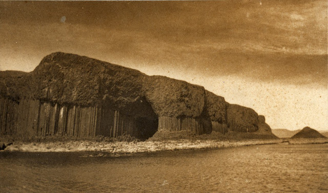 Fingal's Cave, Staffa. Columnar basalt. From the British Association for the Advancement of Science photograph collection