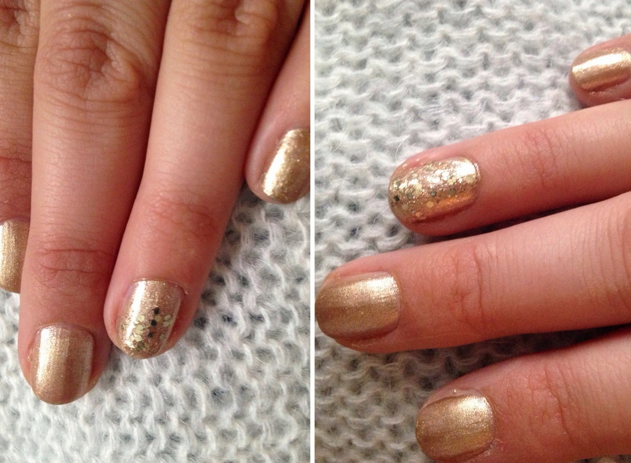 Inspire Magazine Online - UK Fashion, Beauty & Lifestyle blog | Nails Of The Week // H&M Nail Polish Duo in Gold; Inspire Magazine; Inspire Magazine Online; Nails Of The Week; NOTD; H&M; H&M Nail Polish Duo