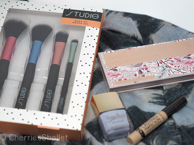 Studio London Make Up Brushes, Barry M Super Natural Superdrug Exclusive Palette, Tanya Burr Fairy Godmother Nail Polish, Collection Lasting Perfection Concealer in Warm Medium 3