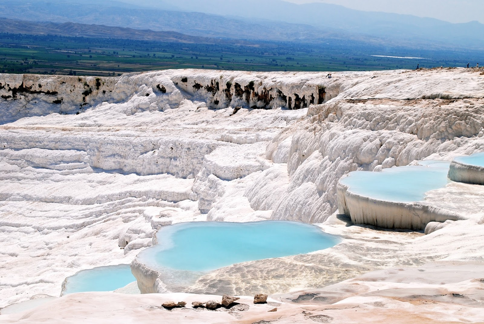 The white terrace pools at Pamukkale in Turkey