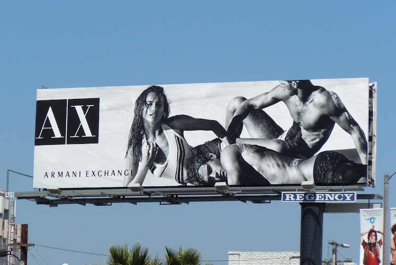 Marlon Teixeira Clint Mauro Armani Exchange billboard