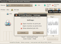 Priter Monitor Settings