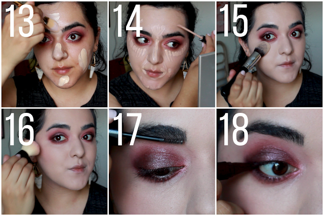 Dramatic Smokey Eye For Fall #FalsiesPushUpDrama