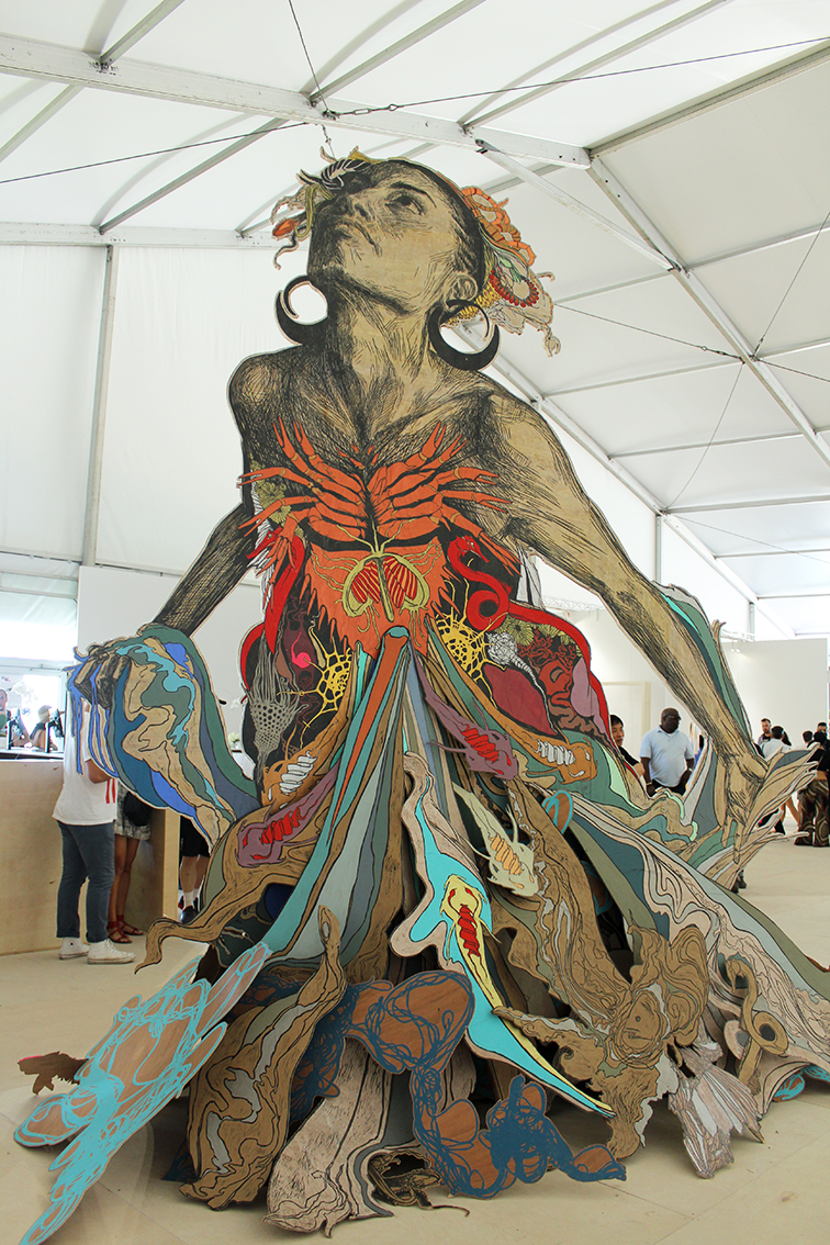 Thalassa by the sea at Scope, in Miami by Swoon Studio
