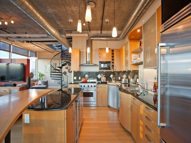 Modern kitchen in Denver penthouse
