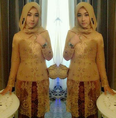 Model kebaya gaun muslim elegan untuk wisuda