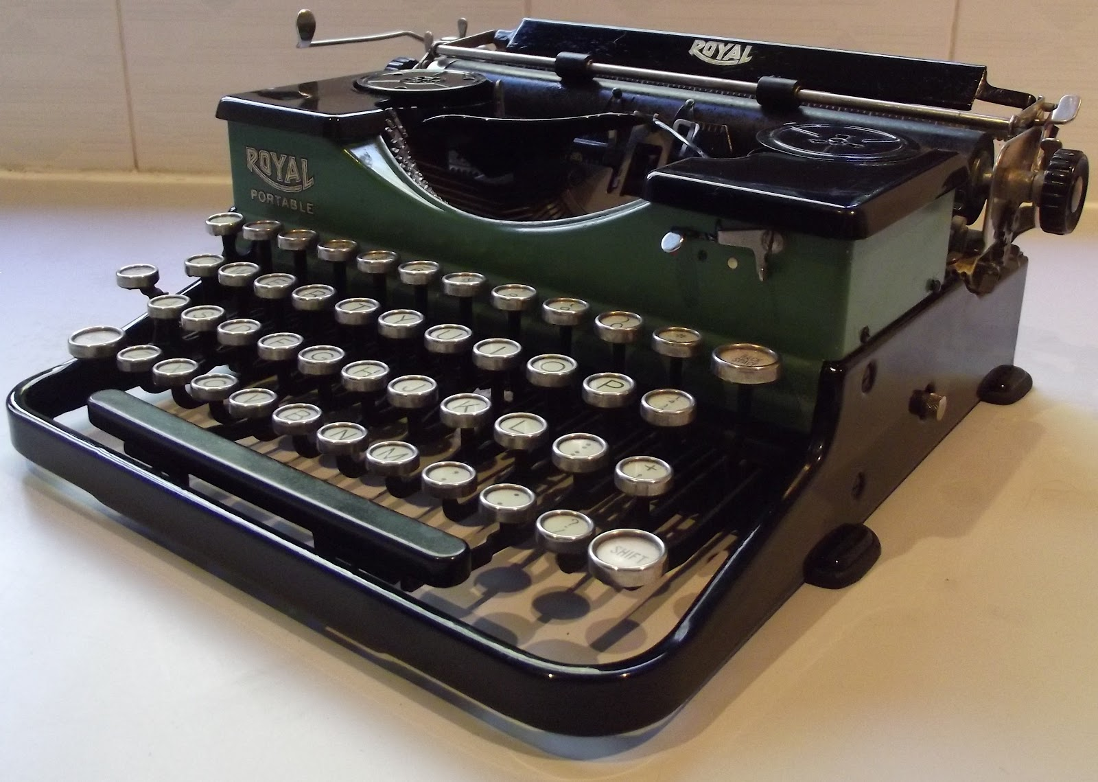 Nice Vintage Royal Portable Typewriter Part - 9: That Fact Alone Is Extraordinarily Interesting U2013 Because The Typewriter  Itself Did Not Appear On The Market Until Late September 1926, More Than  Four Years ...
