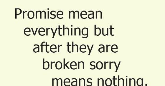 apologize breaking promise boyfriend