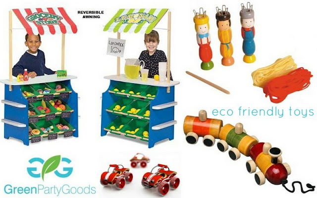 Green Party Goods eco friendly toys