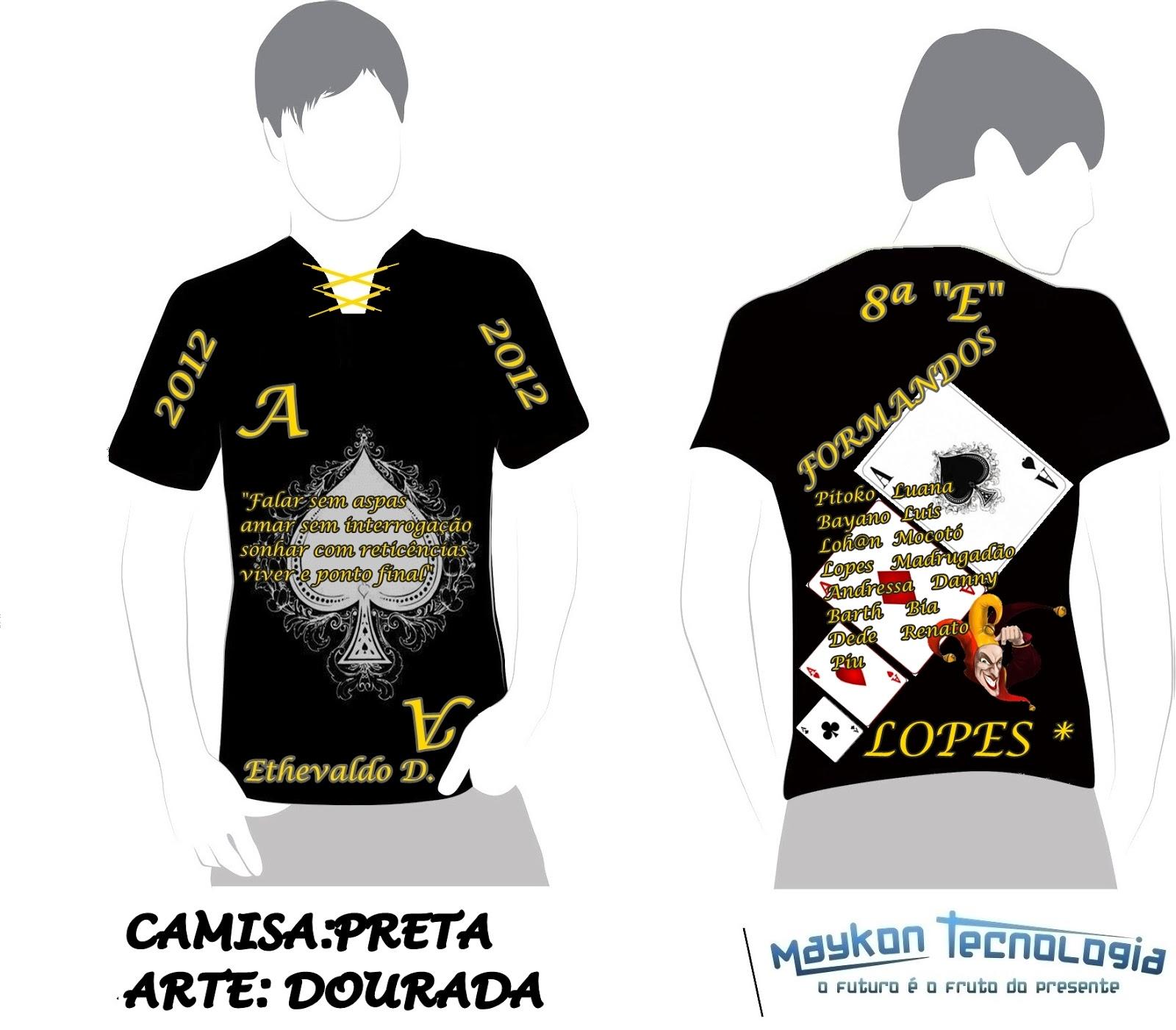 Cria    O De Design Das Camisas De Formandos Da Escola Ethevaldo