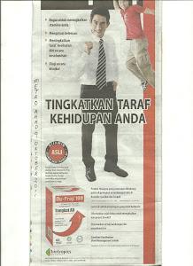 Tongkat Ali Nu-Prep 100 ' Iklan Akhbar' hingga 2012. Untuk ANDA 'Pengguna Bijak Malaysia'