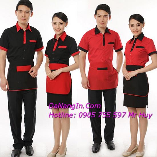 đồng phục đà nẵng giá rẻ in hình lên áo