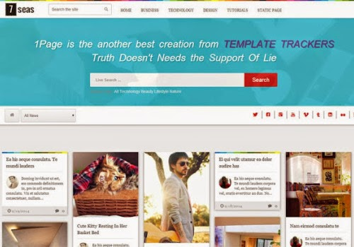 7 seas multi purpose responsive blue blogger template 2014 for blogger or blogspot,download free responsive blogger template 2014,gallery blogger template free download 2014 2015