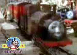 Thomas the train character Bertram tank engine 0-4-0 old narrow gauge railway Sodor quarry mountain