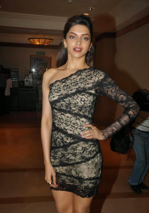 Deepika Padukone-posing-in-see-through-Black-Dress