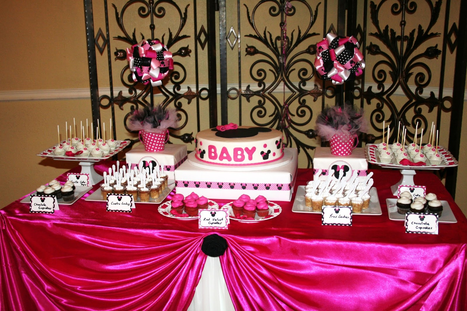 mickey and minnie baby shower theme minnie mouse baby shower car