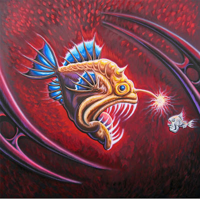 Drew Brophy surf lifestyle artist angler fish painting