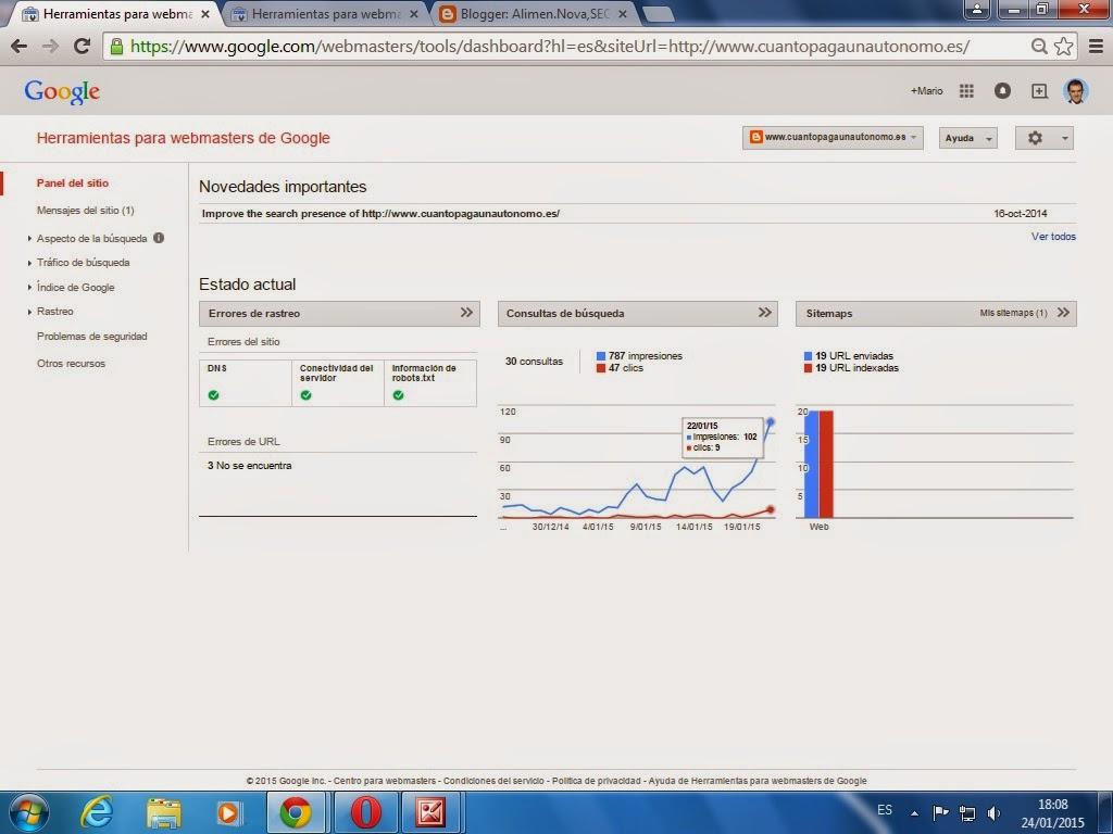 cuanto paga un autonomo webmaster tools