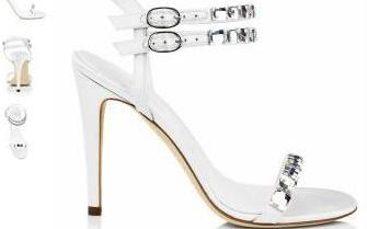 Double-strap wedding sandals