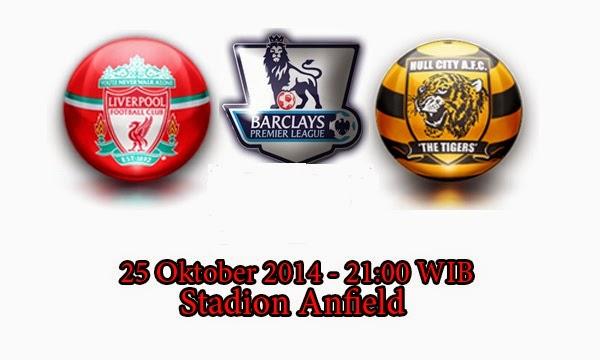 Prediksi Liverpool Vs Hull City 25 Oktober 2014