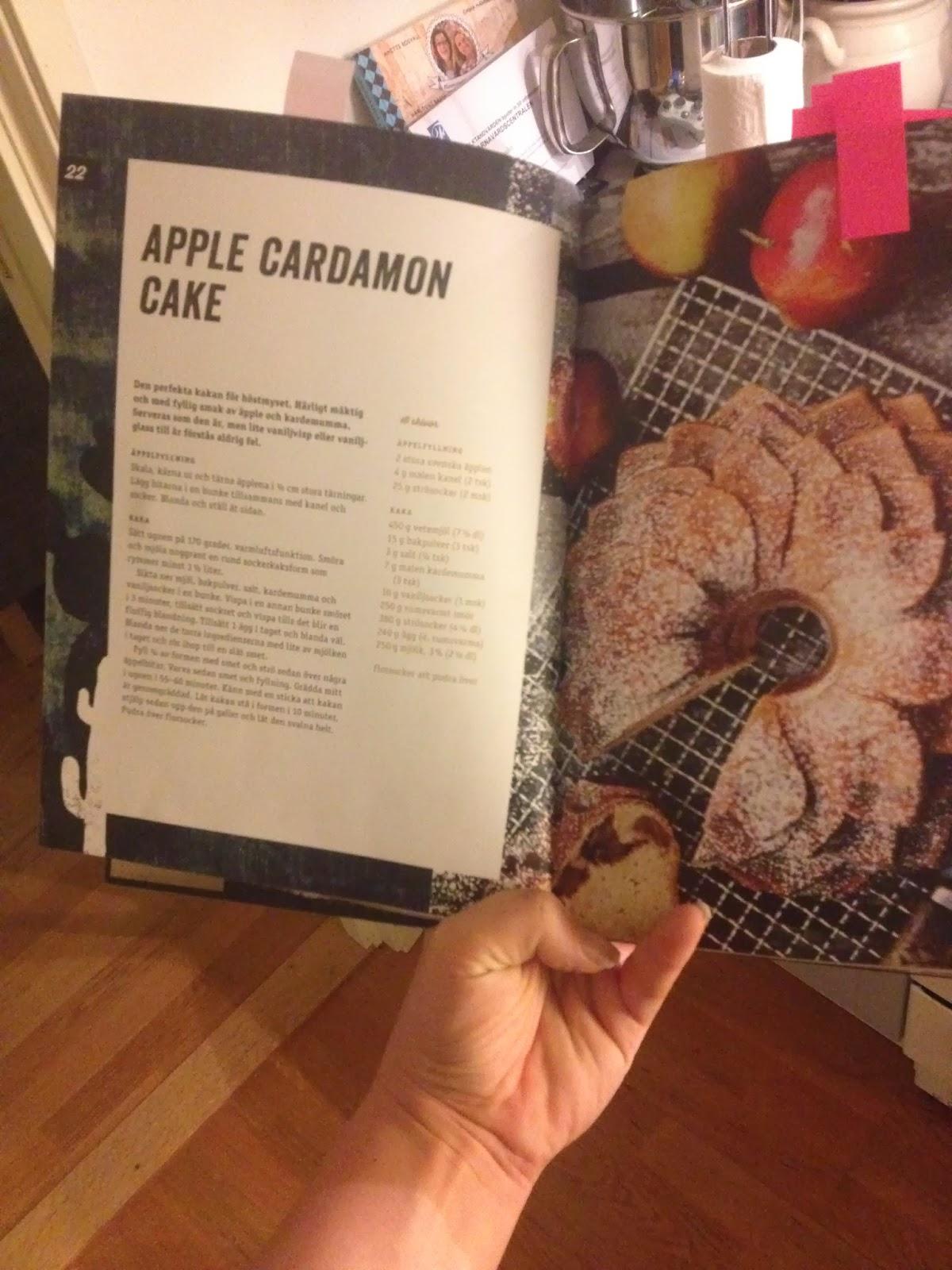 Kokboksklubben: Apple Cardamom cake