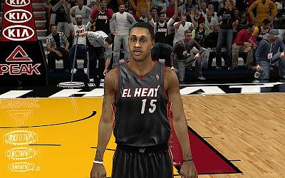NBA 2K13 El Heat Noche Latina Jersey Patch