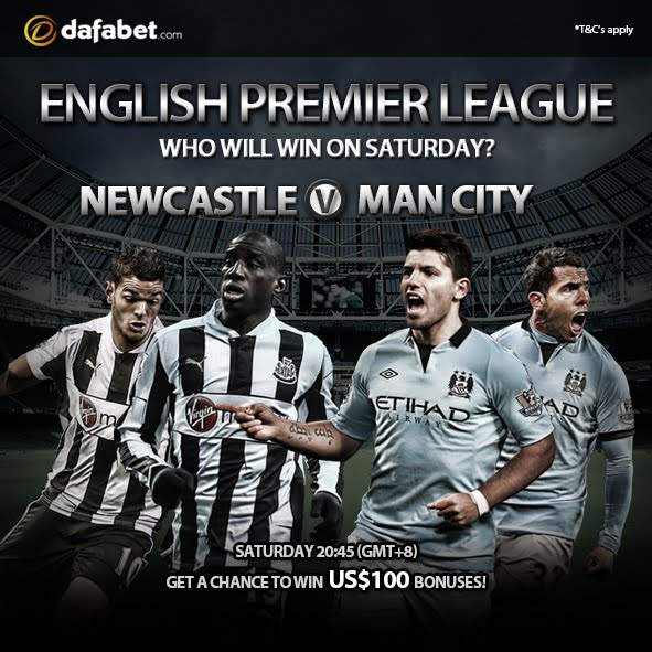 English Premier League:Newcastle v Man City. Can you guess who will win this time?