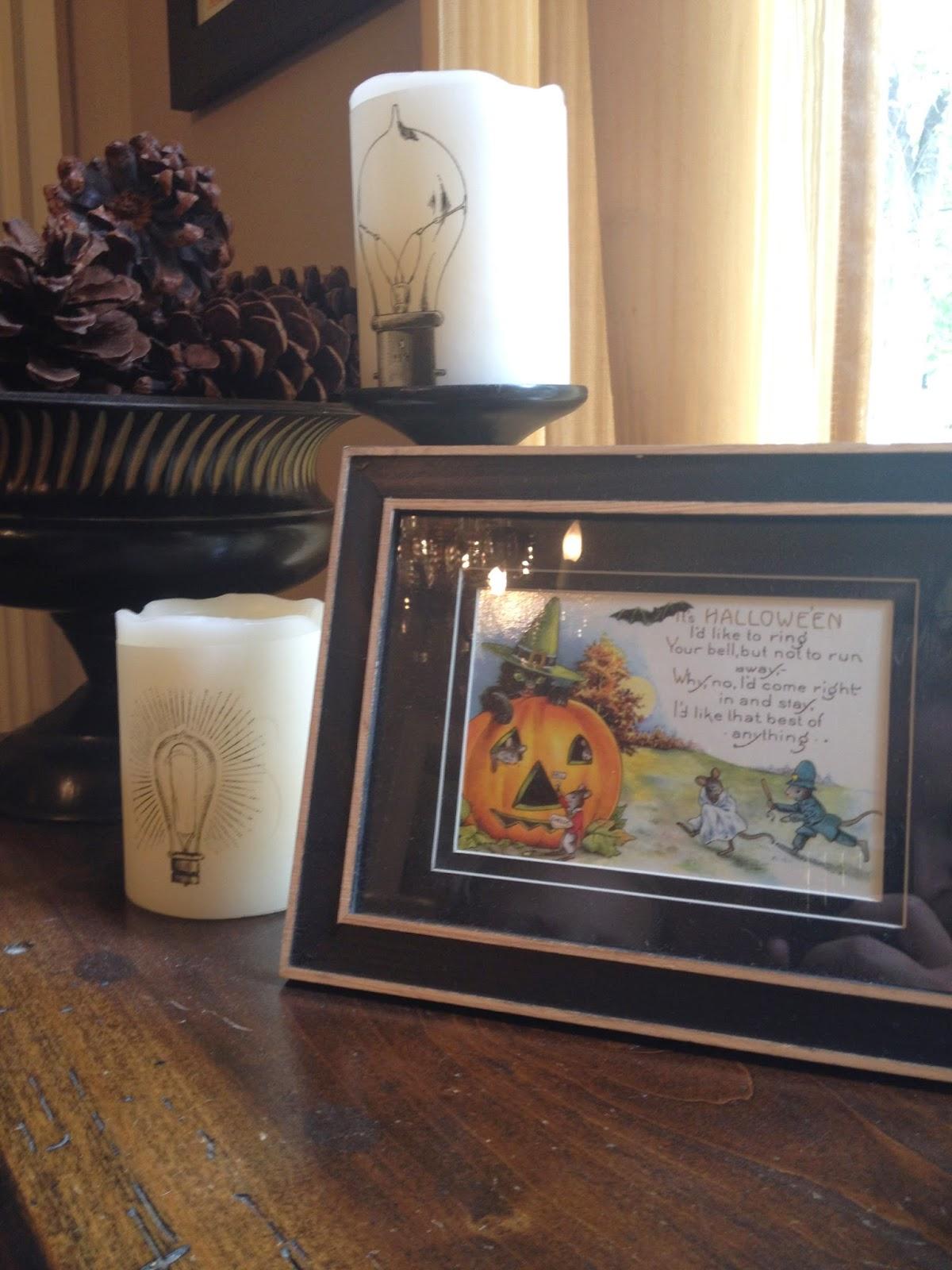 Frame Vintage Halloween Cards for Halloween