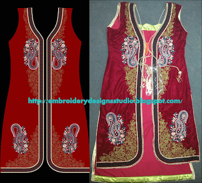 Punjabi suit embroidery designs