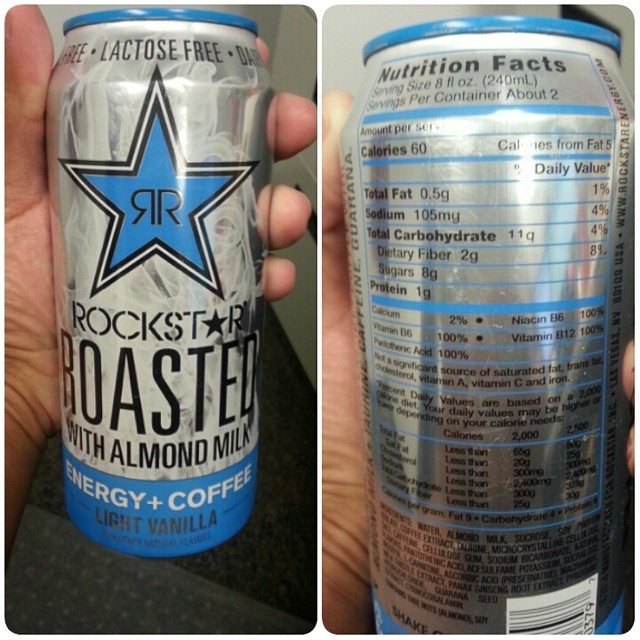 Shannons Lightening The Load Rockstar Roasted With Almond Milk