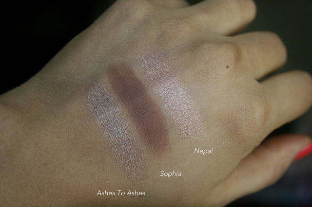 NARS SIngle Eyeshadows Refills - Ashes To Ashes, Kamchatka, Persia, Sophia, New York, Nepal Swatches