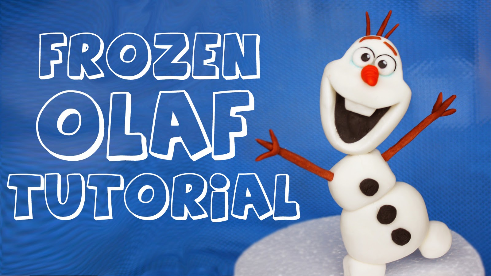 how to make olaf figurine tutorial