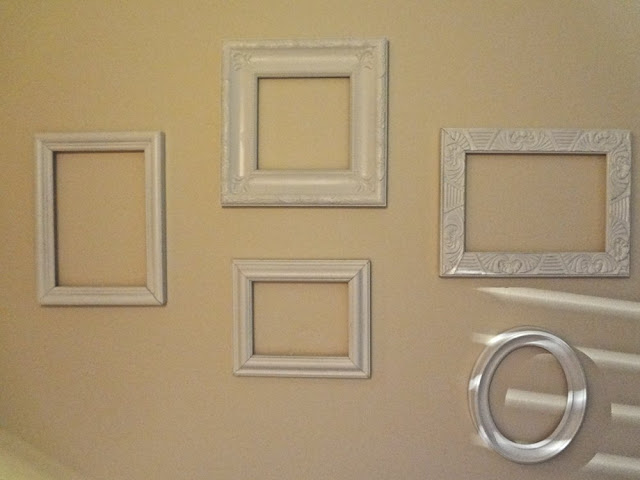 Empty frames as wall art