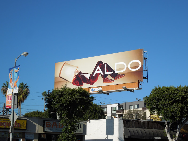 Aldo Shoes lampshade billboard