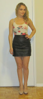 DIY :: No Sew Leather Mini Skirt