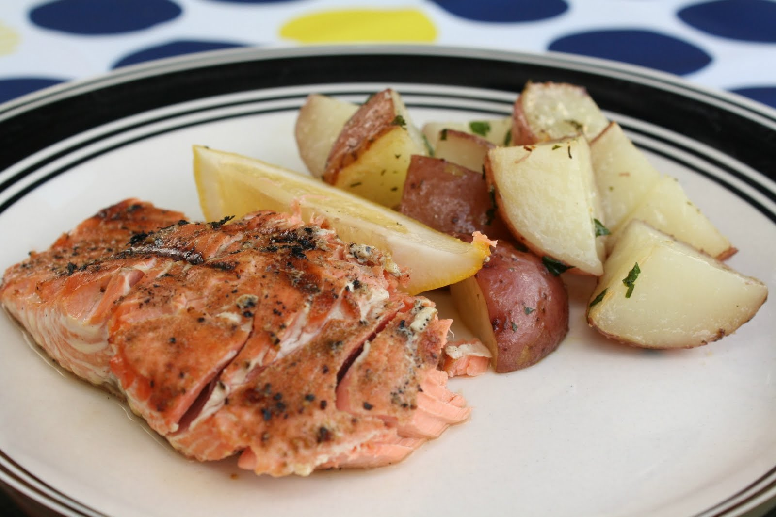 Grilled Salmon & Roasted Red Potatoes | What's For Dinner?