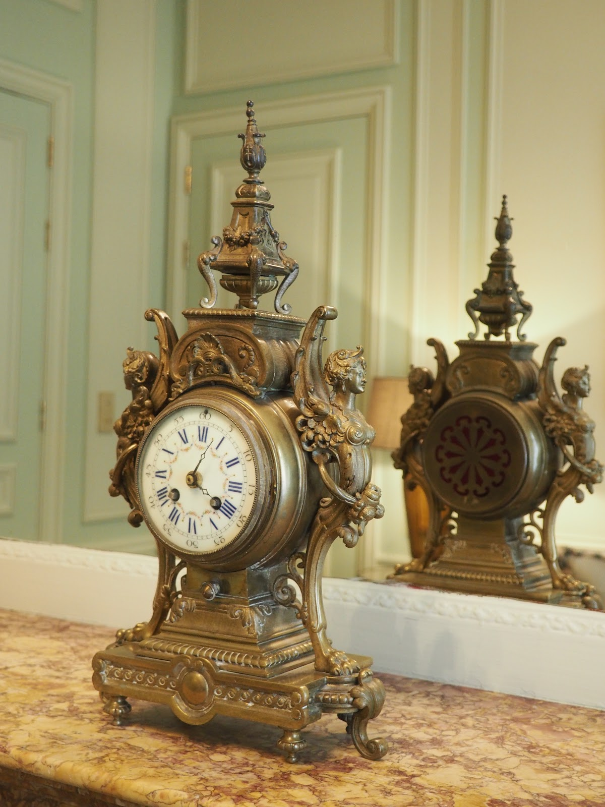Clock in Saint-Honore-Suite, Hotel Westminster, Paris