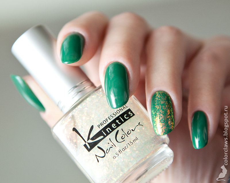 Orly Lucky Duck + Kinetics Daisies and Paislies