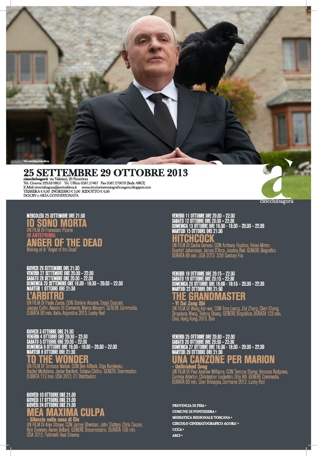 Programma dal 25 settembre al 29 ottobre 2013