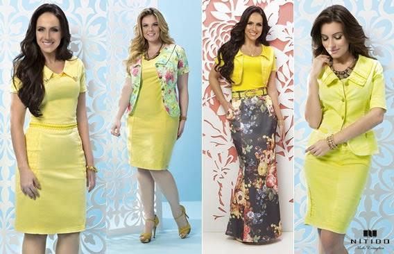 Peças em amarelo da coleção Alto Verão da Nítido Moda Evangélica