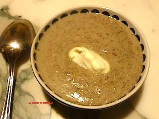 bonne recette de crème de champignons- cuisine de Marderelle