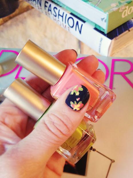 diy floral nail art hand painted