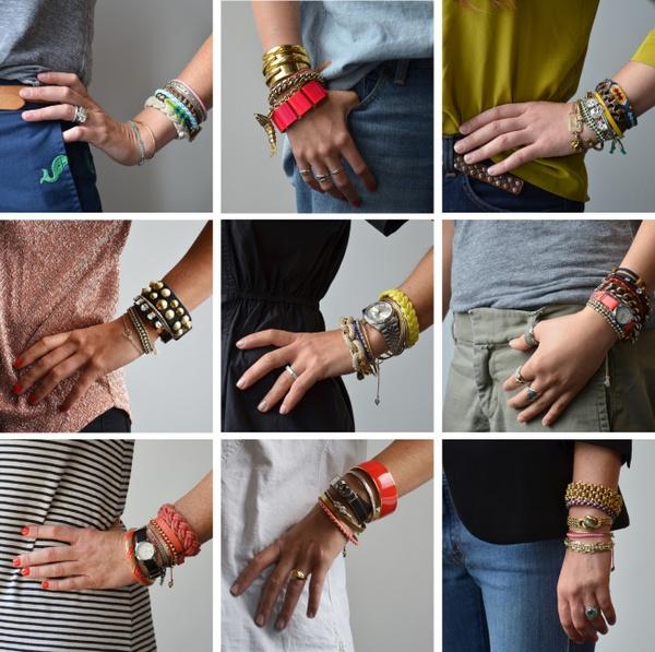 308Много браслетов на руке своими руками