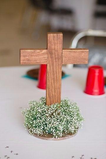 Centros de mesa para bautizo