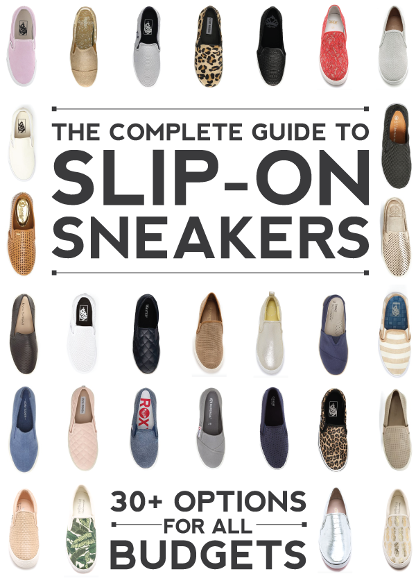 the complete guide to slip-on sneakers for all budgets // @luvfromafar