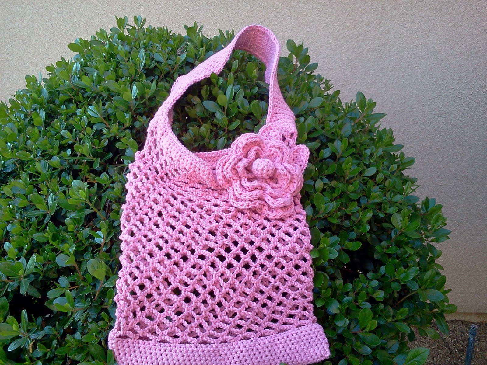 Free Crochet Patterns For Grocery Bags : Sincerely, Ree: Crochet Mesh Shopping Bag #2