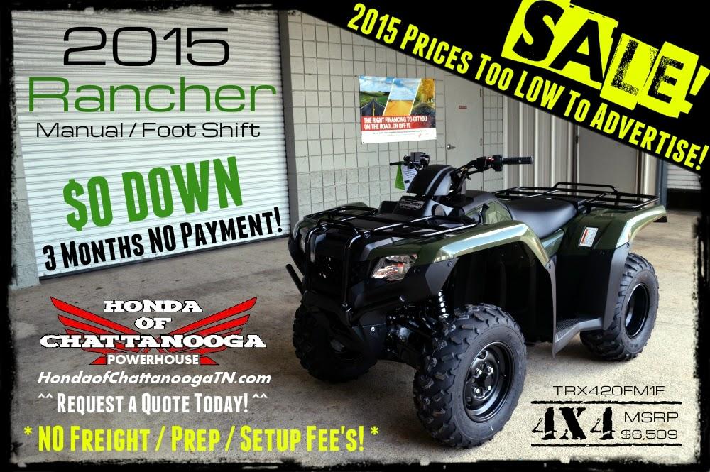 2015 Rancher 4x4 420 for sale chattanooga tn ga al atv dealer tn honda powersports