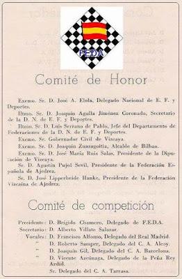 Comités del II Campeonato de España de Ajedrez por Equipos (2)