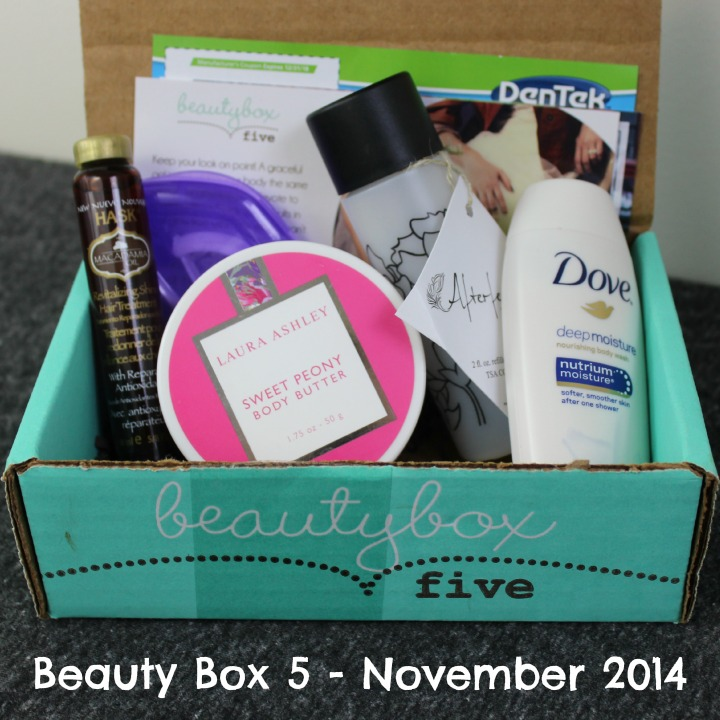Beauty Box 5 - November 2014 Review & Unboxing contents